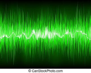elvont, zöld, waveform., eps, 8