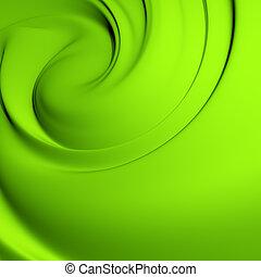 elvont, zöld, whirlpool., kitakarít, részletes, render., háttér, series.