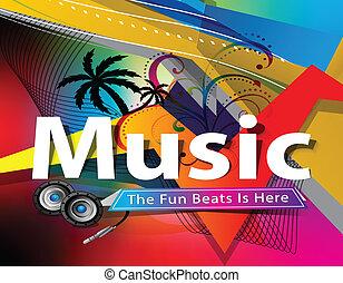 elvont, zene, színes, háttér