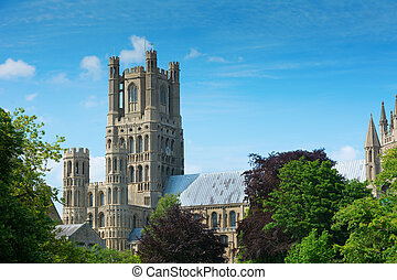 Ely cathedral Cambridgeshire England - Ely cathedral in...