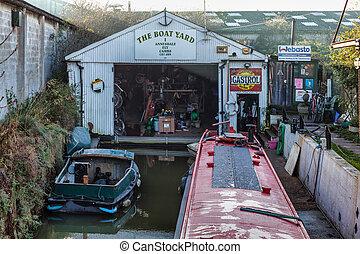 ely, yard, bateau