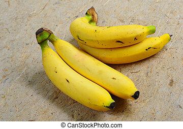 elzáródik, közül, banana.