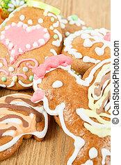 elzáródik, közül, húsvét, gingerbreads