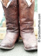 elzáródik, közül, szüret, cowboy csizma