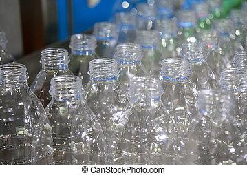 elzáródik, palack, műanyag