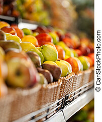 elzáródik, piac, gyümölcs