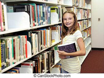 em, a, biblioteca
