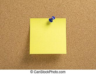 em branco, amarela, notepaper