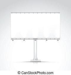 em branco, ao ar livre, billboard, com, lugar, para,...