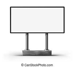 em branco, billboard, para, anunciando