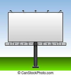 em branco, billboard