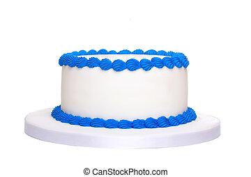 em branco, bolo aniversário