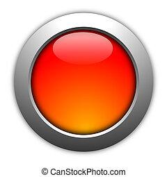 em branco, botão