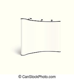 em branco, branca, holofotes, realístico, exibição, mockup, ...