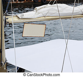 em branco, branca, tag, antigas, penduradas