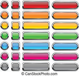 em branco, buttons.