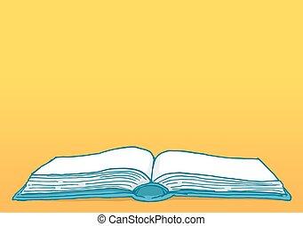 em branco, cópia, livro, espaço aberto