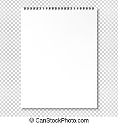 em branco, caderno