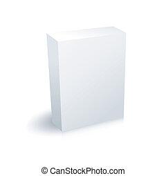em branco, caixa