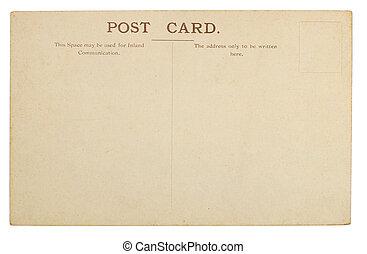 em branco, cartão postal