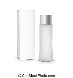 em branco, cosméticos, pacotes