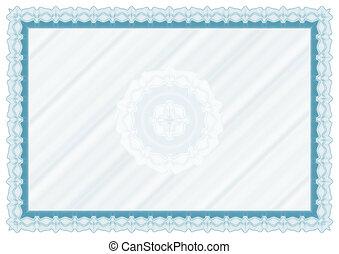 em branco, diploma, com, rosette