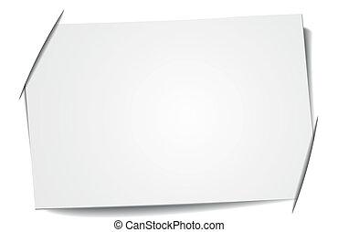 em branco, etiqueta
