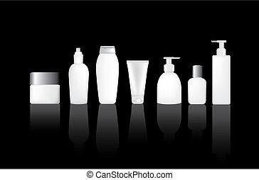 em branco, garrafas