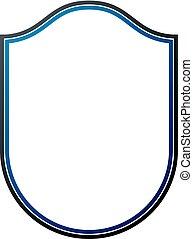 em branco, heraldic, quadro, com, copy-space, vetorial, vindima, proteção, escudo, emblem.