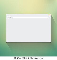 em branco, janela, browser, internet