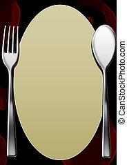 em branco, menu