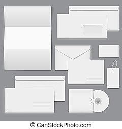 em branco, negócio, incorporado, modelos