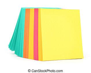 em branco, notas adesivas