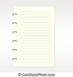 em branco, notebook.