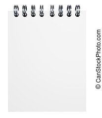em branco, papel, caderno