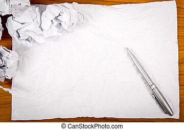 em branco, para, começo novo, começar, novo, projeto