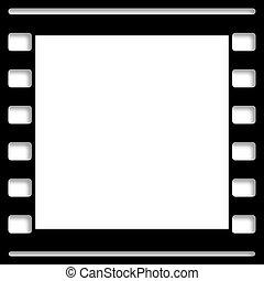 em branco, película, quadro, quadro, escorregar