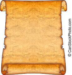em branco, scroll, antiga