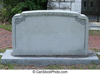 em branco, tombstone