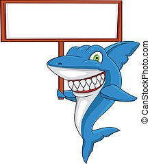 em branco, tubarão, sinal