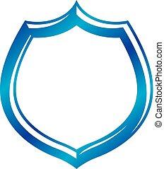 em branco, vindima, emblema, com, copy-space, vindima, heraldic, design., decorativo, proteção, shield.