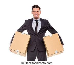 em movimento, escritório negócio