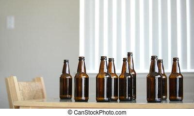 em, pijany, piwo, spojrzenia, człowiek, więcej