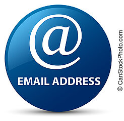 Email address blue round button