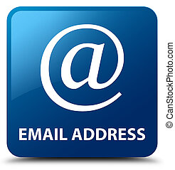Email address blue square button