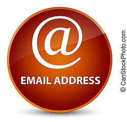 Email address elegant brown round button