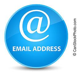 Email address elegant cyan blue round button