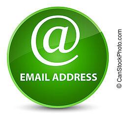 Email address elegant green round button