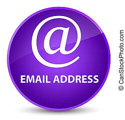 Email address elegant purple round button