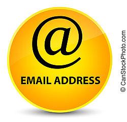 Email address elegant yellow round button